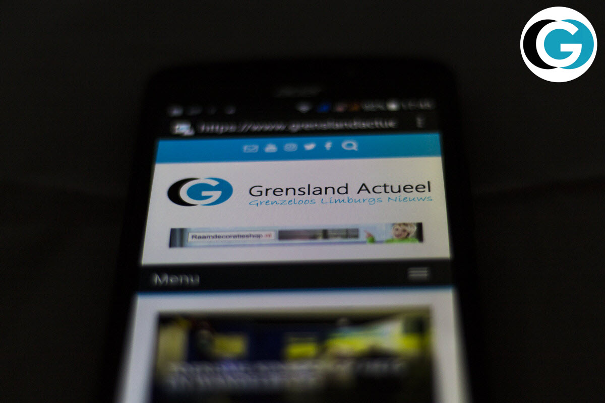 Telefoon tablet website Grensland Actueel